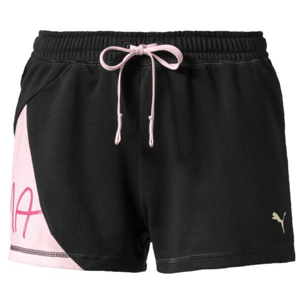 Sweet Women's Shorts, Puma Black-Barely Pink, large