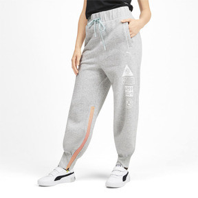 Thumbnail 1 of PUMA x SELENA GOMEZ Women's Sweatpants, Light Gray Heather, medium