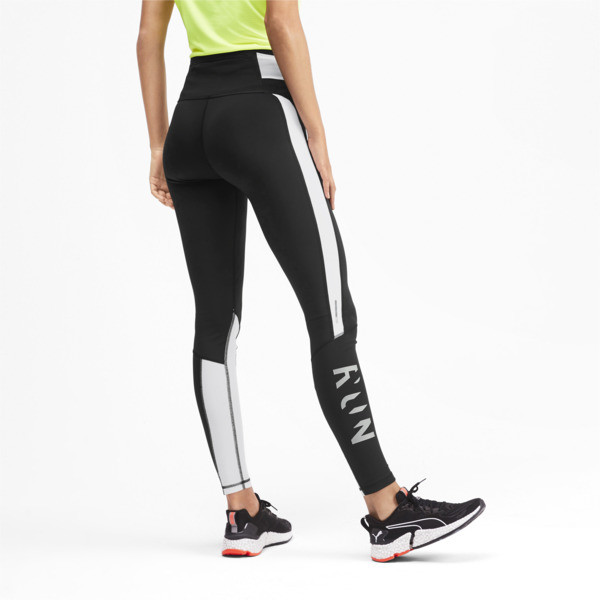 6e40dea28f7943 Get Fast Thermo R+ Women's Running Leggings, Puma Black-Puma White, large-