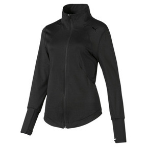 Thumbnail 3 of Studio Knit Women's Training Jacket, Puma Black, medium