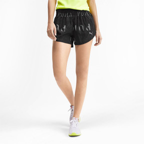 "Thumbnail 1 of 3"" Graphic Women's Shorts, Puma Black-Reflective Print, medium"