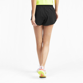 "Thumbnail 2 of 3"" Graphic Women's Shorts, Puma Black-Reflective Print, medium"