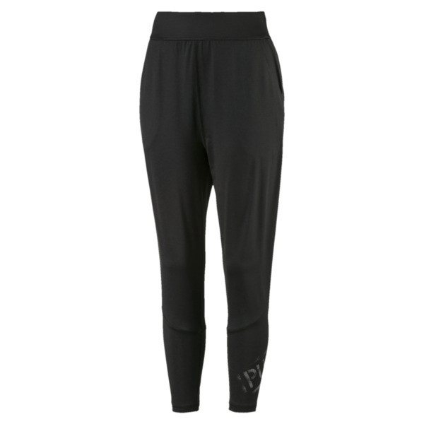 Studio 7/8 Knitted Women's Sweatpants, Puma Black, large