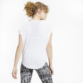 Thumbnail 2 of Studio Mesh Cat Damen Training T-Shirt, Puma White, medium