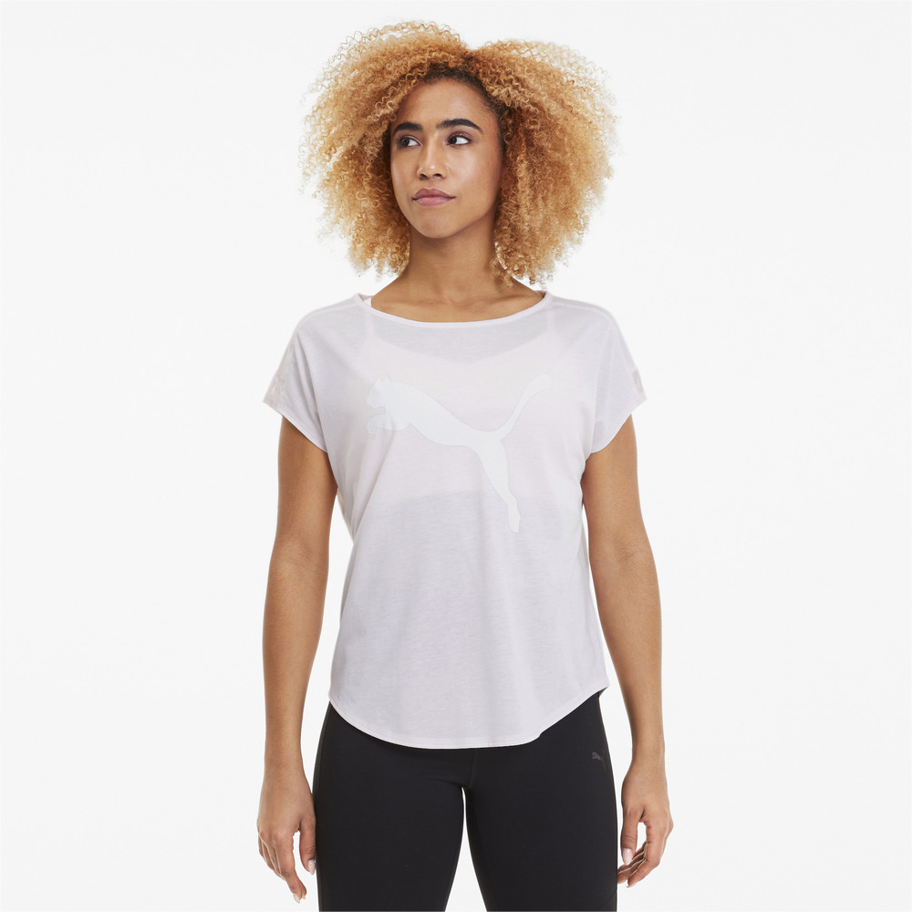 Image PUMA Studio Mesh Cat Women's Training Tee #1