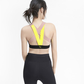 Miniatura 2 de Sujetador deportivo Feel It de mediano impacto para mujer, Black-BridalRose-Yellowalert, mediano