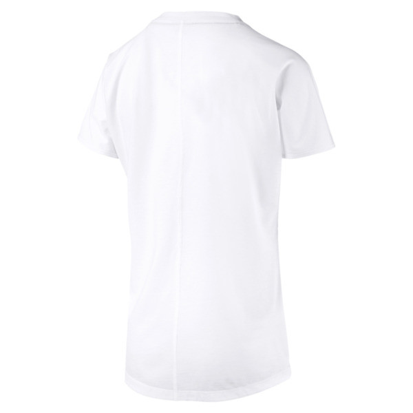T-shirt Training con logo PUMA Cat donna, Puma White-CAT Q3, Grande