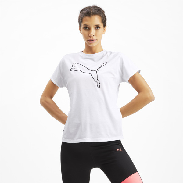 T-Shirt PUMA Cat Training pour femme, Puma White-CAT Q3, large