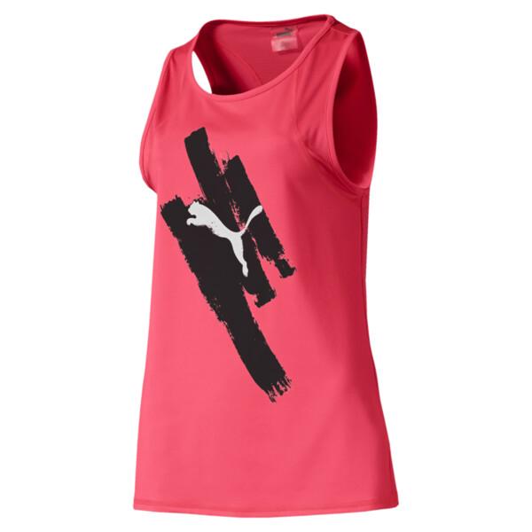 Camiseta sin mangas Be Bold con estampa para mujer, Pink Alert, grande
