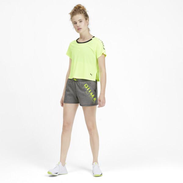 Shorts HIT Feel It para mujer, Medium Gray Heather, grande