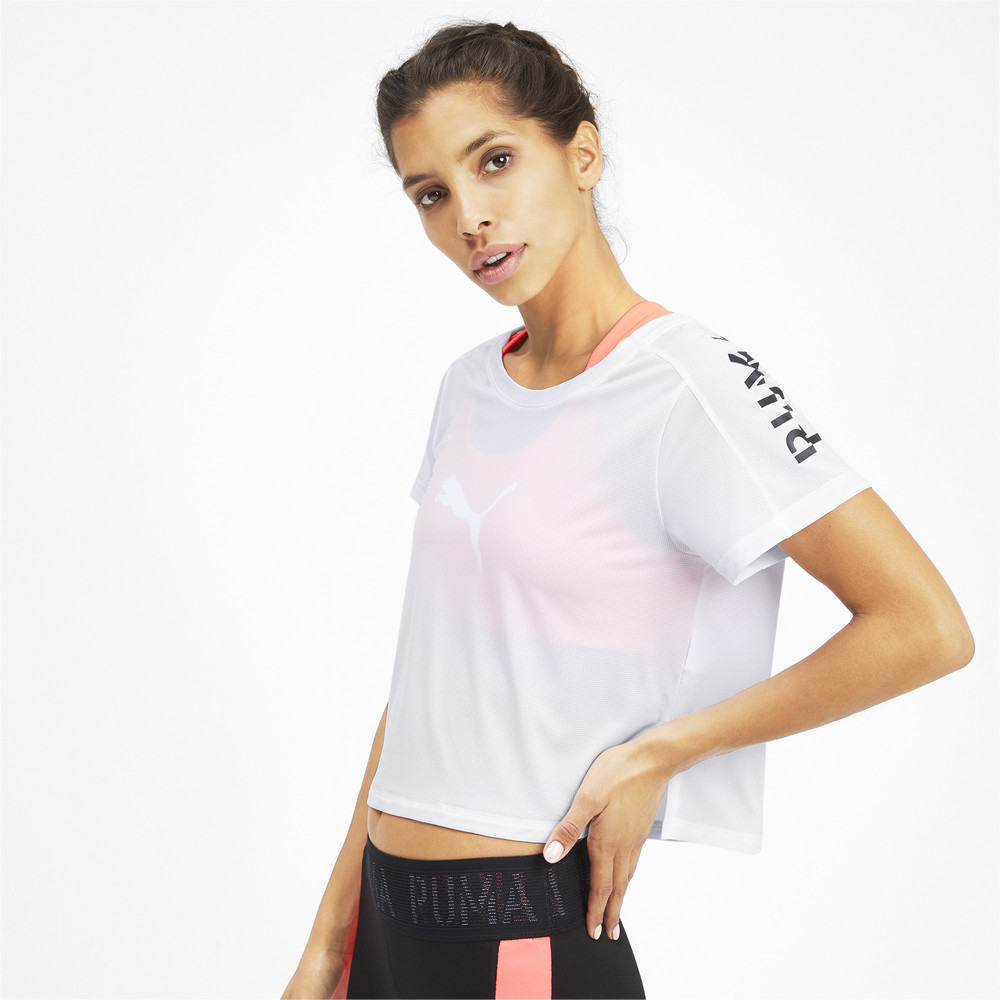 Image Puma Cropped Short Sleeve Women's Training Tee #2