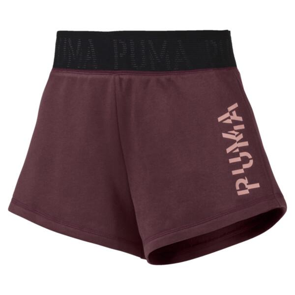 Shorts con logo para mujer, Vineyard Wine Heather, grande