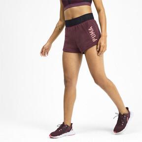 Miniatura 2 de Shorts con logo para mujer, Vineyard Wine Heather, mediano