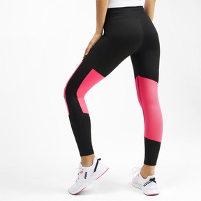 Thumbnail 2 of Logo 7/8 Graphic Women's Training Leggings, Puma Black-Pink Alert, medium