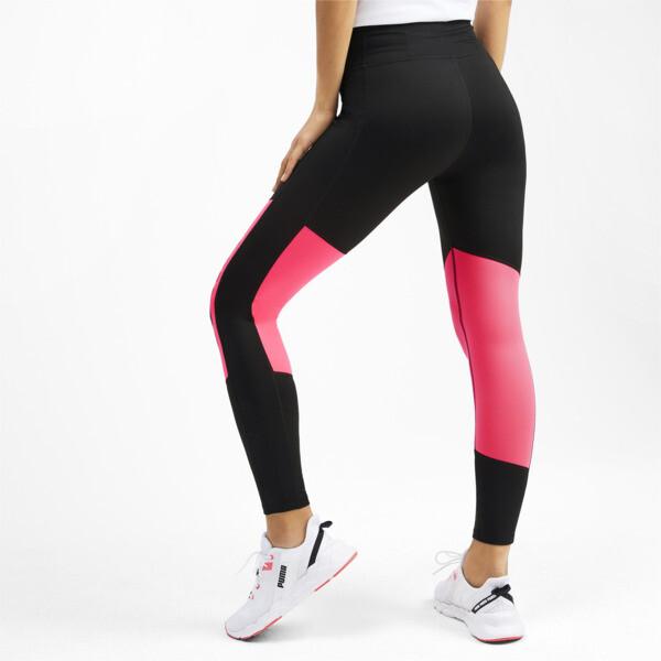 Logo Graphic Damen Training 7/8 Leggings, Puma Black-Pink Alert, large
