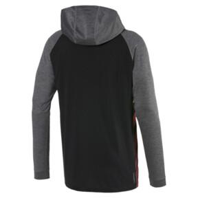 Miniatura 5 de Camiseta Collective con capucha y mangas largas para hombre, Black-CASTLEROCK Heather, mediano