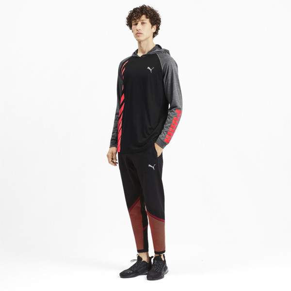 Camiseta Collective con capucha y mangas largas para hombre, Black-CASTLEROCK Heather, grande