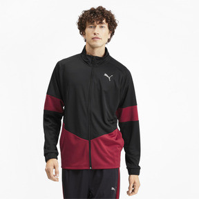 Thumbnail 2 of PUMA Blaster Men's Jacket, Puma Black-Rhubarb, medium