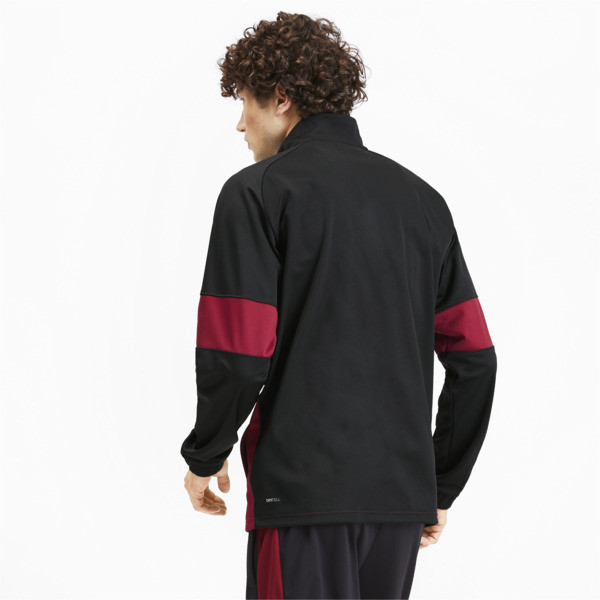 PUMA Blaster Men's Jacket, Puma Black-Rhubarb, large