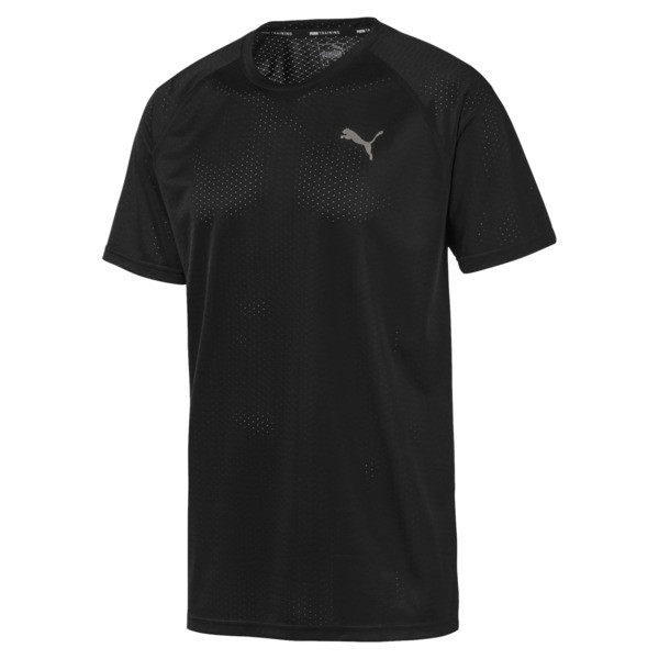 Short Sleeve Men's Tech Training Tee, Puma Black, large