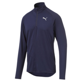 Thumbnail 4 of IGNITE Half Zip Herren Running Top, Peacoat, medium