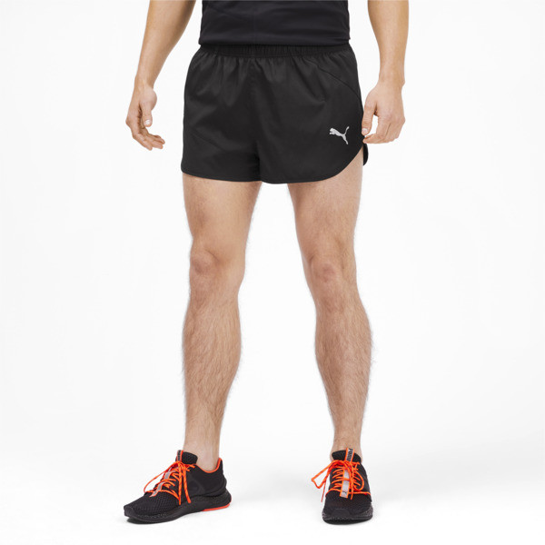 IGNITE Herren Running Split Shorts, Puma Black, large
