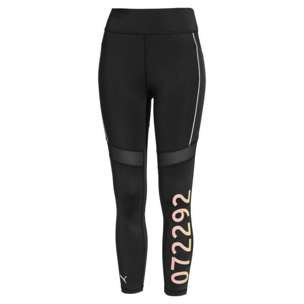 PUMA x SELENA GOMEZ Women's Leggings, Puma Black-Peach Bud, large