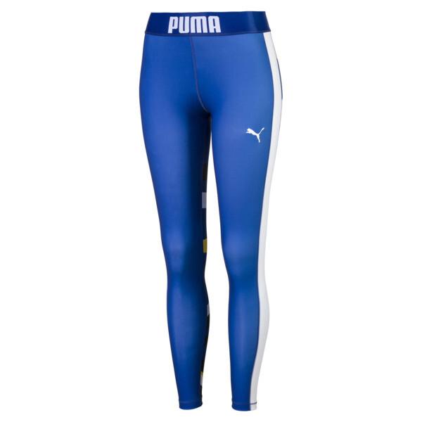 Graphic Damen Leggings, Sodalite Blue, large