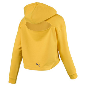 Thumbnail 2 of Cropped Women's Hoodie, Spectra Yellow, medium