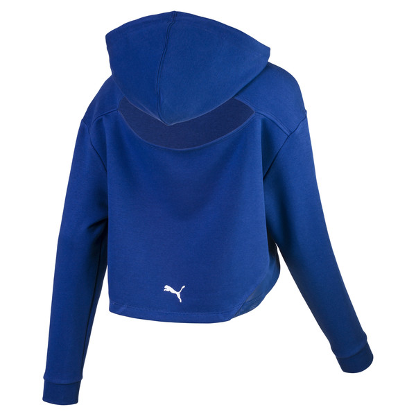Cropped Women's Hoodie, Sodalite Blue, large