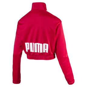 Thumbnail 2 of Poly Zip-Up Women's Track Top, Lipstick Red, medium