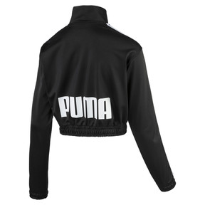 Thumbnail 2 of Poly Zip-Up Women's Track Top, Puma Black, medium
