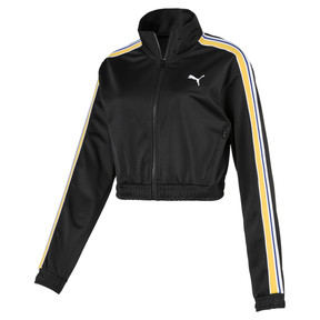 Thumbnail 1 of Poly Zip-Up Women's Track Top, Puma Black, medium