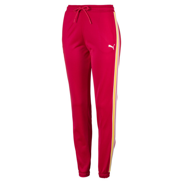 Poly Cuffed Women's Track Pants, Lipstick Red, large