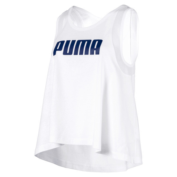Loose Women's Tank Top, Puma White, large