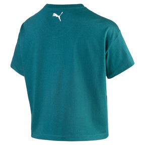 Thumbnail 2 of Cropped Logo Women's Tee, Harbor Blue, medium