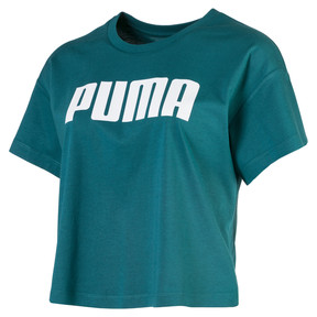 Thumbnail 1 of Cropped Logo Women's Tee, Harbor Blue, medium