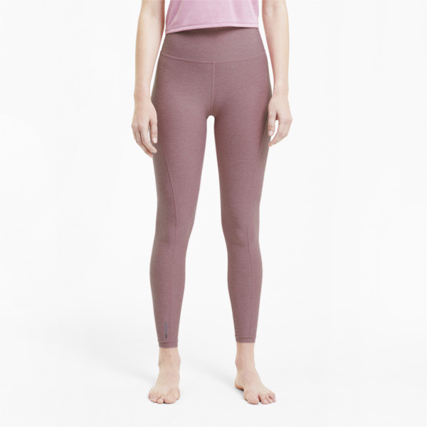puma studio luxe eclipse women's 7/8 leggings in foxglove heather, size l