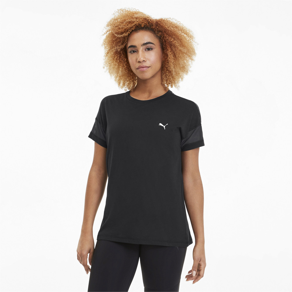 Image Puma Feel It Mesh Logo Women's Training Tee #1