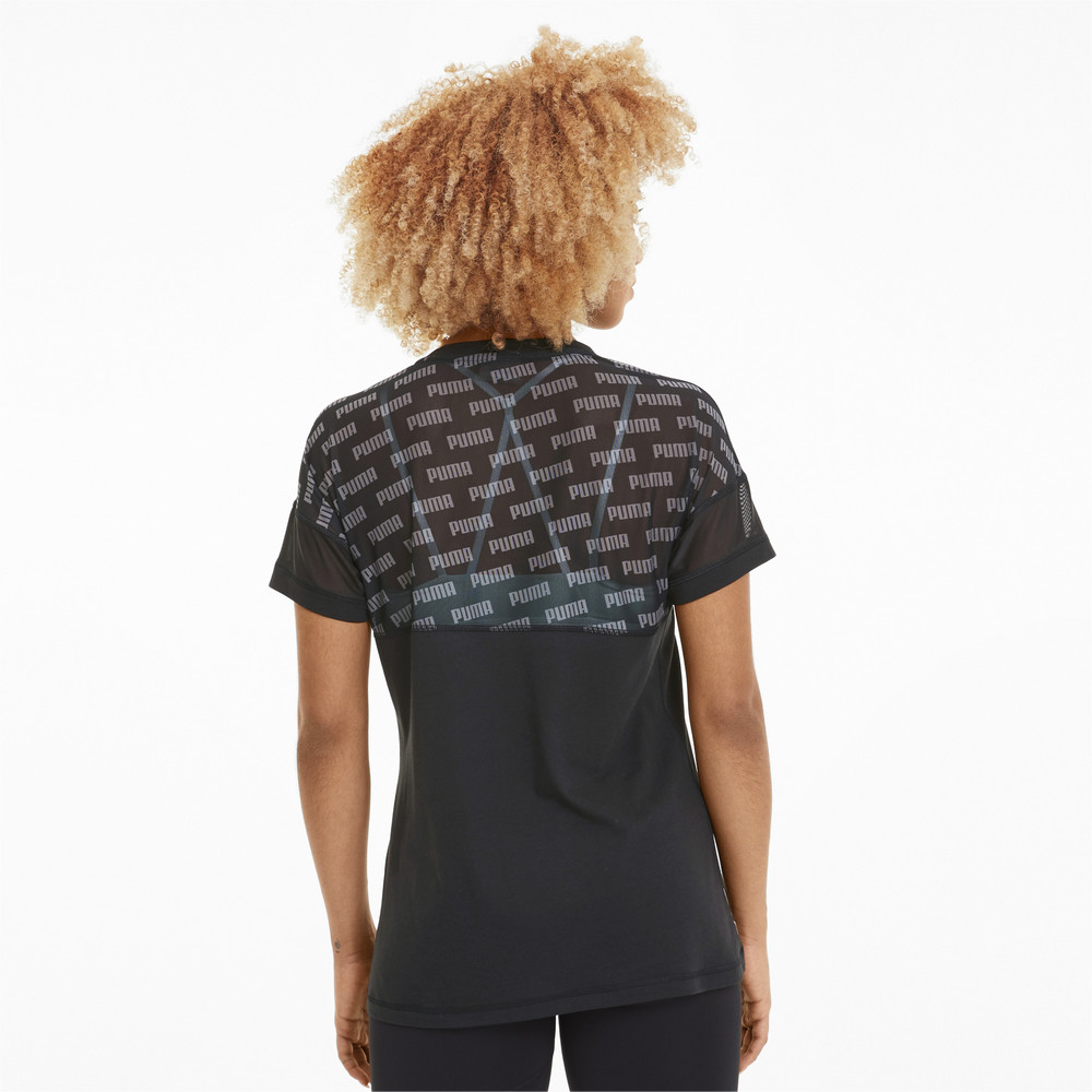 Image Puma Feel It Mesh Logo Women's Training Tee #2