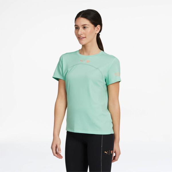Puma X First Mile Women's Running T-Shirt In Mist Green, Size M
