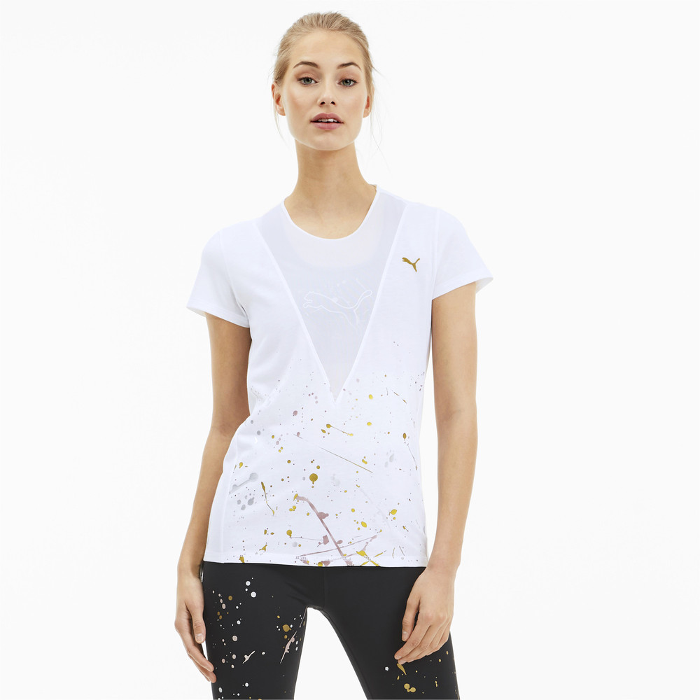 Image Puma Metal Splash Deep Women's Training Tee #1