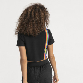 Thumbnail 2 of Performance Cropped Piqué Damen Polo, Puma Black, medium