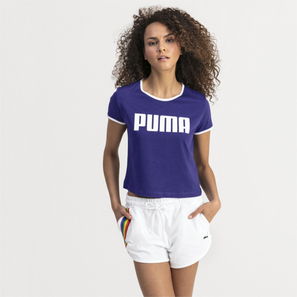 Performance Retro Women's Tee, Deep Wisteria, large