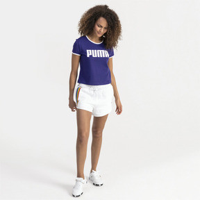 Thumbnail 3 of Performance Retro Damen T-Shirt, Deep Wisteria, medium