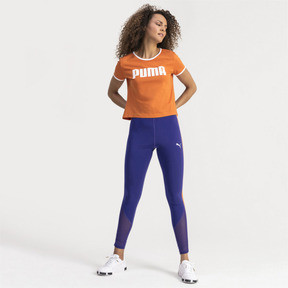 Thumbnail 3 of Performance Retro Women's Tee, Burnt Orange, medium