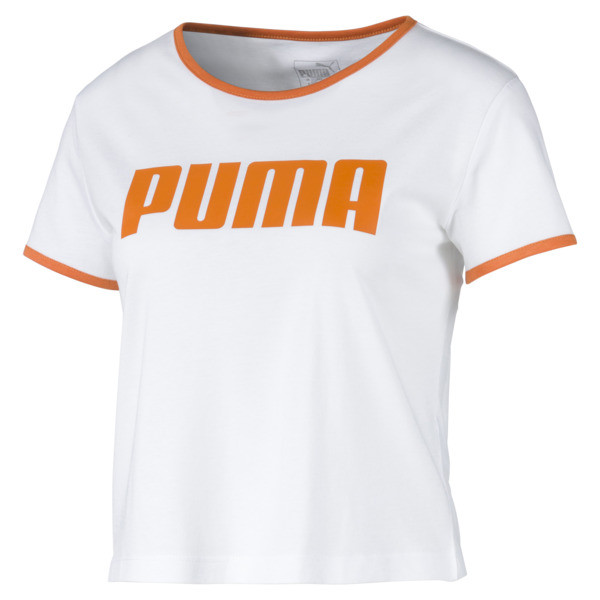 Performance Retro Damen T-Shirt, Puma White, large
