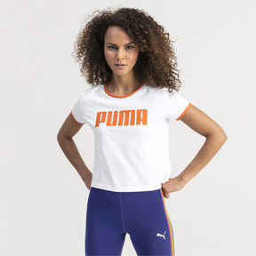 Thumbnail 1 of Performance Retro Damen T-Shirt, Puma White, medium