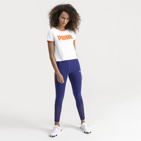 Thumbnail 3 of Performance Retro Damen T-Shirt, Puma White, medium