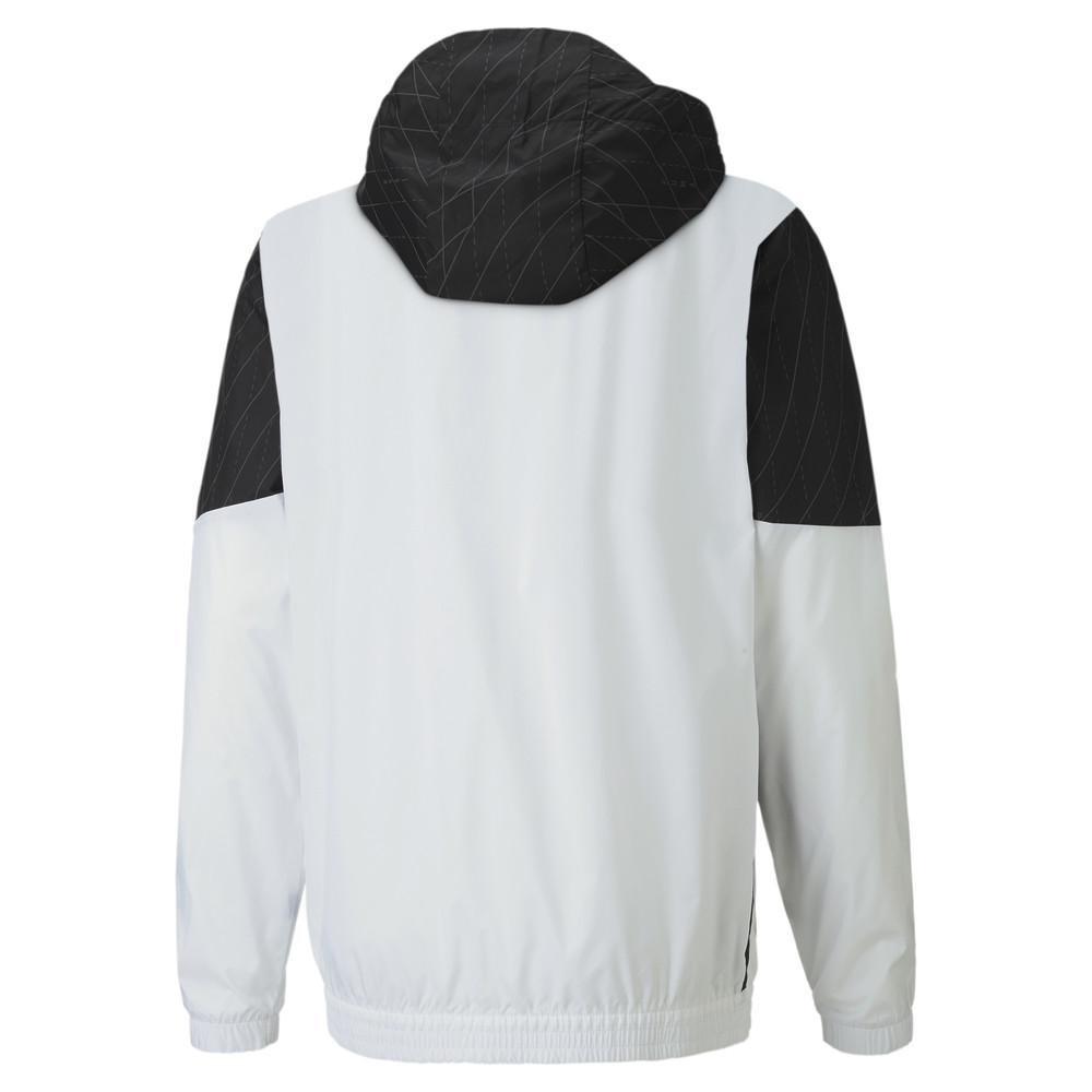 Купить Куртки и ветровки, PUMA - male - Куртка Run Graphic Hooded Jacket – Puma White-Puma Black – S